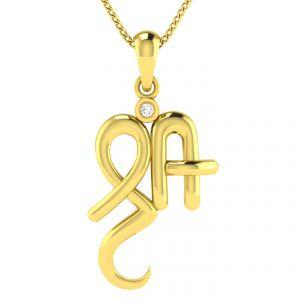 Buy Avsar Real Gold and Diamond  Varsha Pendant online