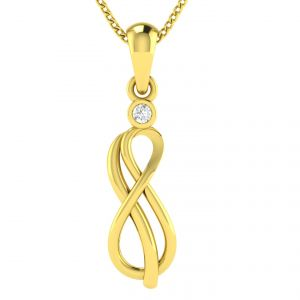 Buy Avsar Real Gold And Diamond Poonam Pendant Avp045ya online