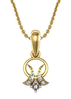 Buy Avsar Real Gold and Swarovski Stone Sonam Pendant online