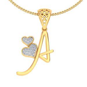 Buy Avsar Real Gold And Diamond Sakshi Pendant Avp177a online