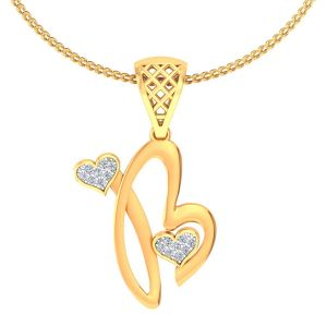 Buy Avsar Real Gold and Diamond Poonam Pendant online