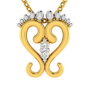 Buy Avsar Real Gold Heart Shape Pendant ( Code - Avp212yb ) online