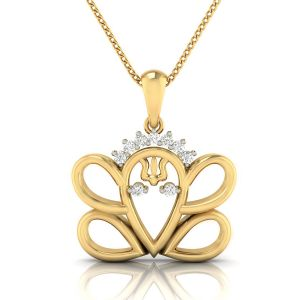 Buy Avsar Real Gold And Diamond Aarohi Pendant online