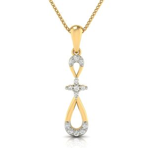 Buy Avsar Real Gold And Diamond Pranita Pendant online