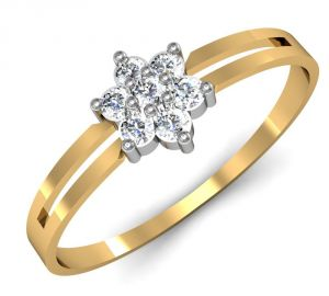 Buy Avsar Real Gold and Swarovski Stone Rohini Ring online