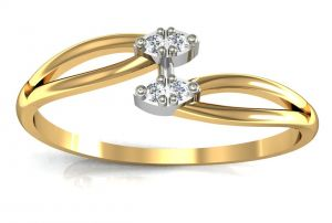 Buy Avsar Real Gold and Diamond Kohinoor Ring online