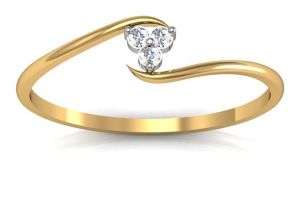 Buy Avsar Real Gold and Diamond kashmir Ring online