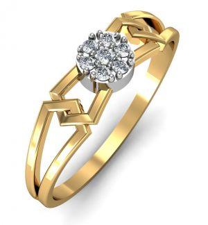 Buy Avsar Real Gold and Swarovski Stone Chitra Ring online