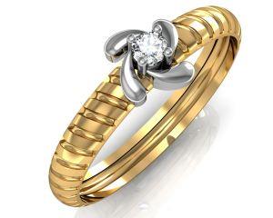 Buy Avsar Real Gold And Swarovski Stone Kanika Ring Avr043yb online