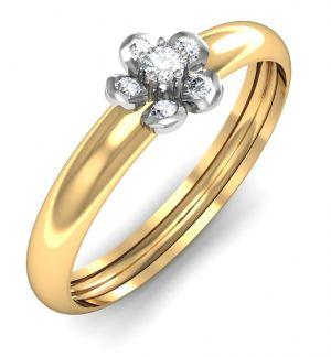 Buy Avsar Real Gold And Swarovski Stone Jyoti Ring Avr046yb online