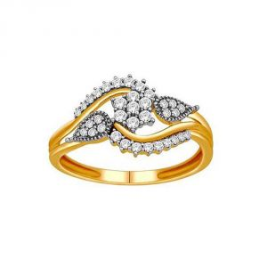 Buy Avsar Real Gold And Diamond Siddhi Ring ( Code - Avr156n ) online