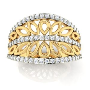 Buy Avsar Real Gold and Diamond Rohini Ring online