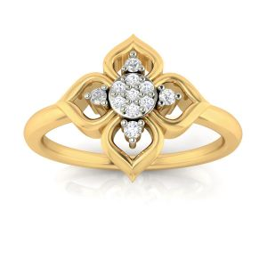 Buy Avsar Real Gold and Diamond Darashu Ring online