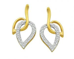 Buy Bling! Diamond Accessories Daily Wear Lovely Leaf online