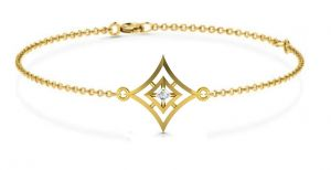 Buy Avsar Real Gold and Diamond Mumbai Bangle online