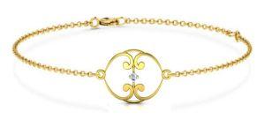 Buy Avsar Real Gold And Swarovski Stone Shreya Bangle12yb online