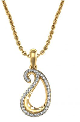 Buy Avsar Real Gold and Swarovski Stone Priya Pendant online