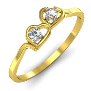 Buy Avsar Real Gold and Swarovski Stone Karishma Ring online