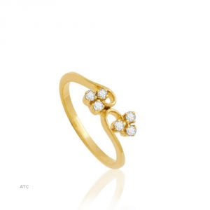 Buy Avsar Real Gold And Diamond Swapna Ring ( Code - Bgr009n ) online