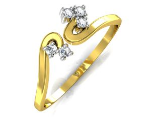 Buy Avsar Real Gold and Swarovski Stone Chitra Ring online