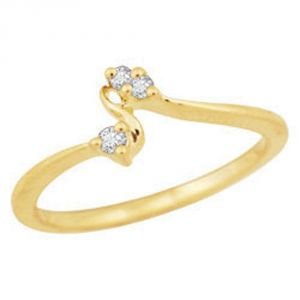Buy Avsar Real Gold And Diamond Kavya Ring ( Code - Bgr025n ) online