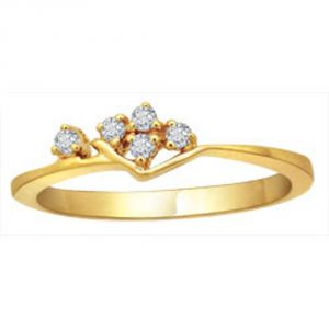 Buy Avsar Real Gold And Diamond Sonali Ring ( Code - Bgr027n ) online