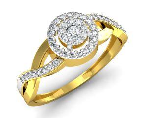 Buy Avsar Real Gold and Swarovski Stone Apeksha Ring online