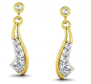 Buy Avsar Real Gold and Swarovski Stone Kinjal  Earring online