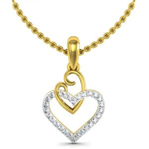 Buy Avsar Real Gold and Swarovski Stone Karnataka Pendant online