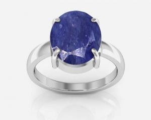 Buy Kiara Jewellery Certified Neelam 8.3 cts or 9.25 ratti Blue Sapphire Ring online