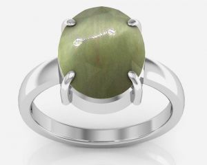 Buy Kiara Jewellery Certified Lehsuniya 5.5 Cts Or 6.25 Ratti Cats Eye Ring online