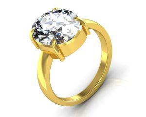 Buy Kiara Jewellery Certified Isphetic 3.0 Cts Or 3.25 Ratti Isphetic Ring online