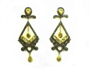 Buy 3.79 Ct Real Diamond Victorian Earring online