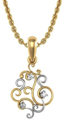 Buy Avsar Real Gold and Swarovski Stone God Shape Pendant online