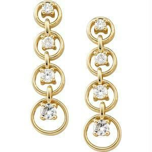 Buy Journey Of Life 14k Gold Diamond Earrings online