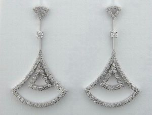 Buy 1.50 CT DIAMOND WHITE GOLD EARRINGS online