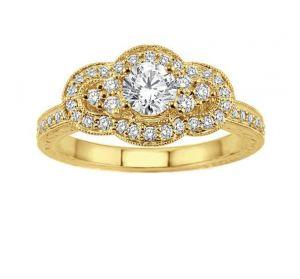 Buy 0.50 Ct Engagement 14k Gold Diamond Rings Intr0031 online
