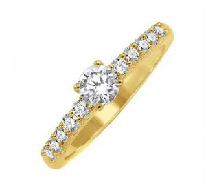 Buy 0.30 CT ENGAGEMENT 14K GOLD DIAMOND RINGS online