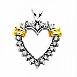Buy Heart Of Life 14k Gold Diamond Pendant online