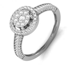 Buy Avsar Real Gold and Swarovski Stone Janavi  Ring online