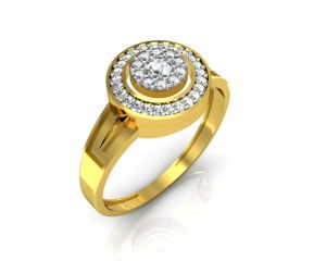 Buy Avsar Real Gold and Swarovski Stone Bengal Ring online