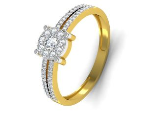 Buy Avsar Real Gold and Diamond Jaipur Ring online