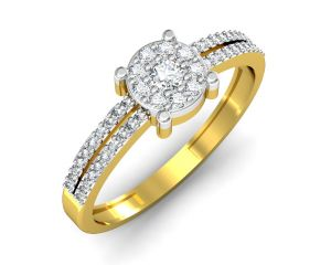 Buy Avsar Real Gold and Swarovski Stone Jaipur Ring online