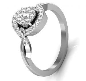 Buy Avsar Real Gold And Swarovski Stone Manipur Ring Intr039wb online