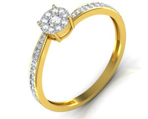 Buy Avsar Real Gold and Diamond Panjab  Ring online
