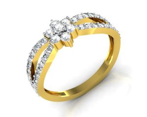 Buy Avsar Real Gold and Swarovski Stone Samiksha Ring online
