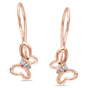 Buy Kiara Pink Gold Plated Butterfly Earring online