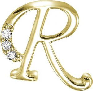Buy Kiara 'r' Alphabet Design American Diamond Pendant Online ...