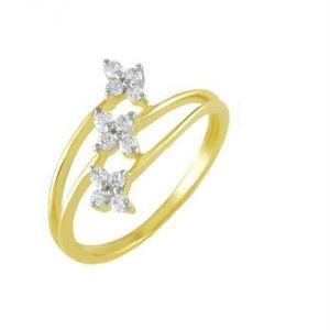 96d352aefc2 Buy Kiara KAVERI Shape AMERICAN Diamond Ring Online
