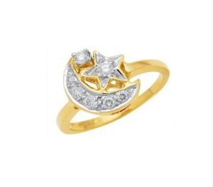 Buy Kiara Moon Star Shape American Diamond Ring online